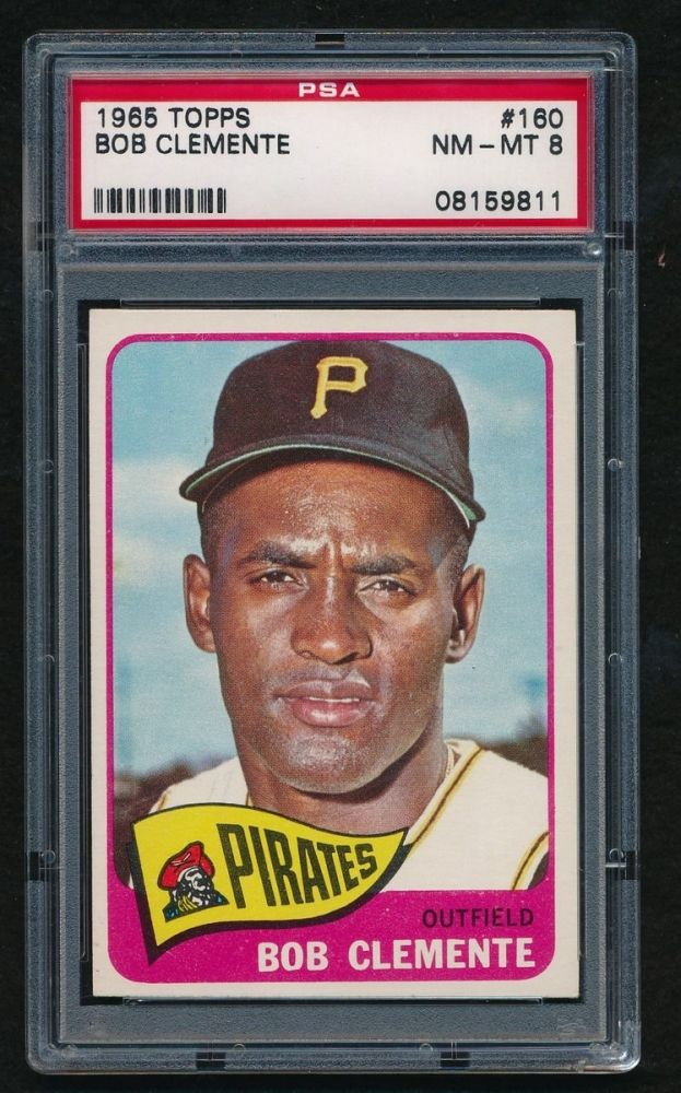 1965 Topps 160 Roberto Clemente Psa 8 At Pristineauctioncom 1