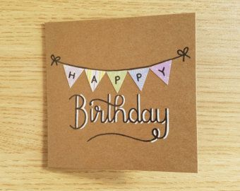 Items similar to Birthday Bunting card on Etsy