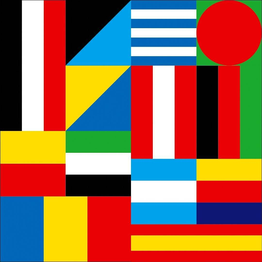 Wip Colours And Shapes Picked From National Flags A Common Visual Interpretation Of Cultural Diversity Plus A H In 2020 National Flag Abstract Artwork Design Studio
