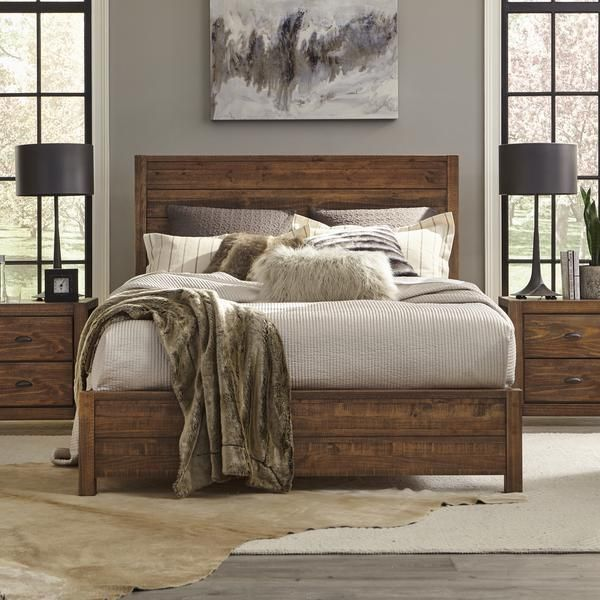 Montauk Queen Size Solid Wood Bed Rustic Bedroom Home Decor Bedroom Remodel Bedroom
