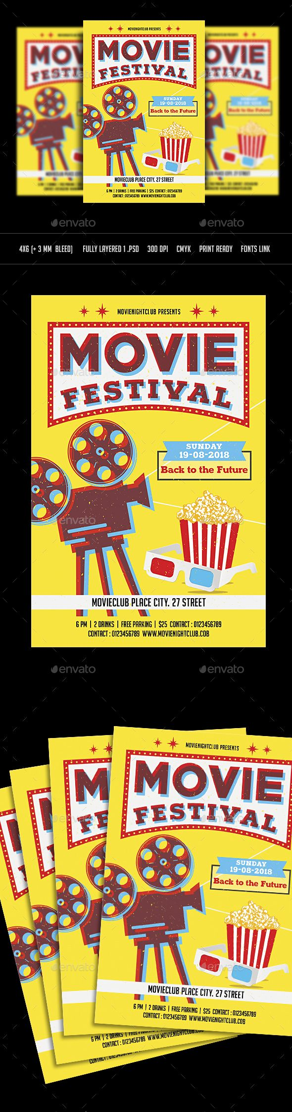 movie night flyer template psd flyer templates pinterest flyer