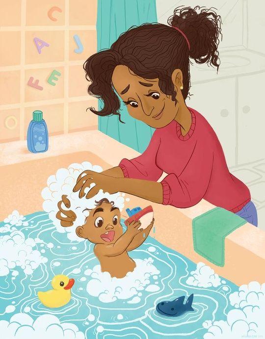 Bathtime! by Amanda Erb   ⊰ вαтн тιмє ⊱   Illustration art ...