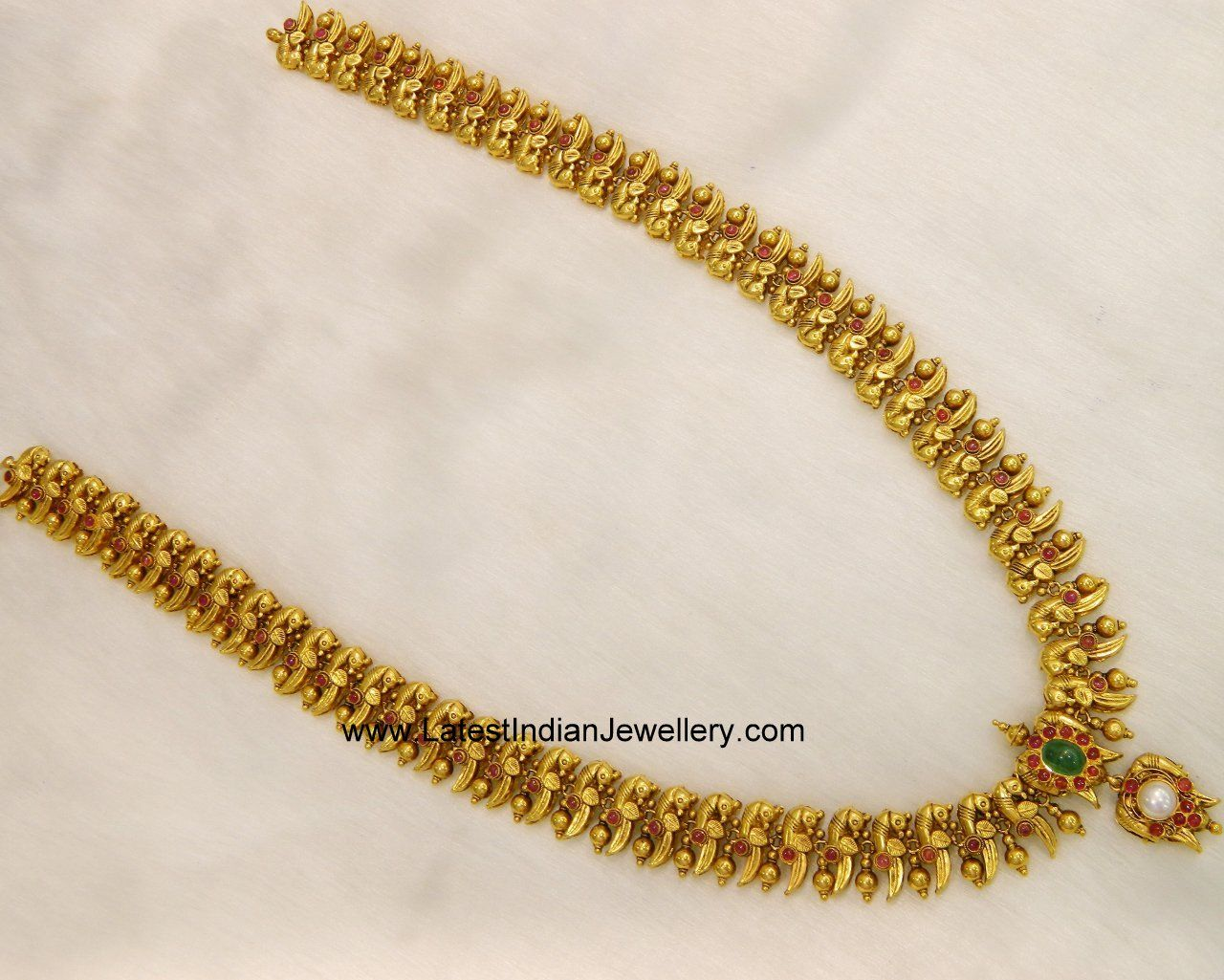 Reversible Bird Haram cum Vaddanam Gold Indian jewelry and Jewelery