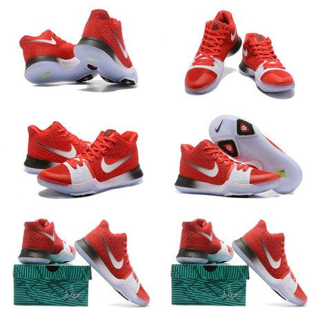pretty nice b33b7 7c711 Free Shipping Only 69  Kyrie 3 III New Colorways University Red White  SiLVSer