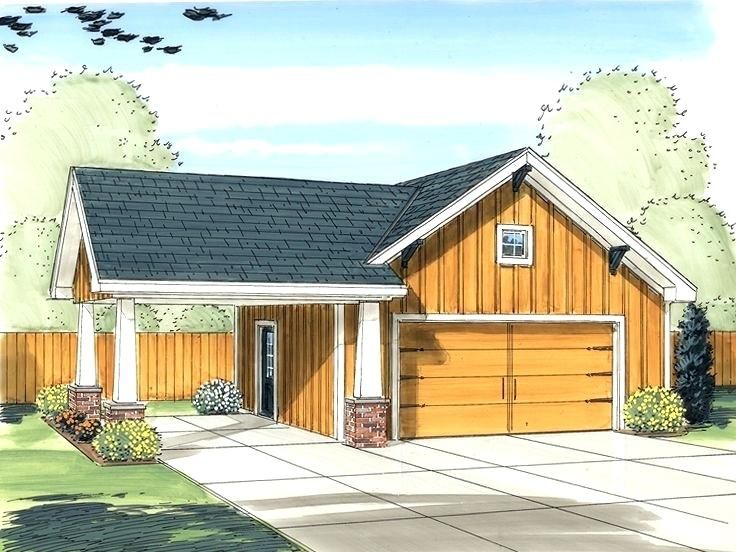 Adding a carport to a garage Craftsman style house plans