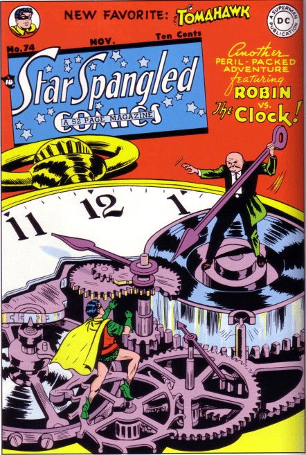 Star Spangled Comics #74, by Win Mortimer (Featuring Robin and the Clock)