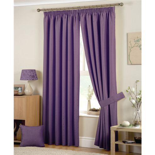 Tesco Direct Curtina Hudson Tiebacks 28 Heather Lined Curtains Home Furnishings Curtains