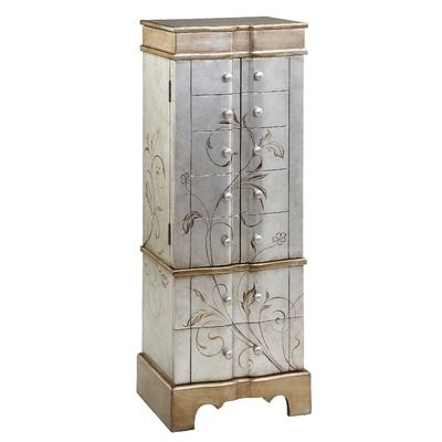 Stein World Jewelry Armoire 2 Doors and 8 Drawers Faudree Fetching