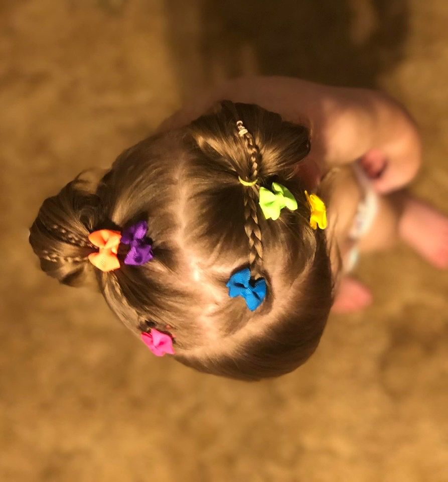 Colorful collection of calliclip bows glitter hair bows