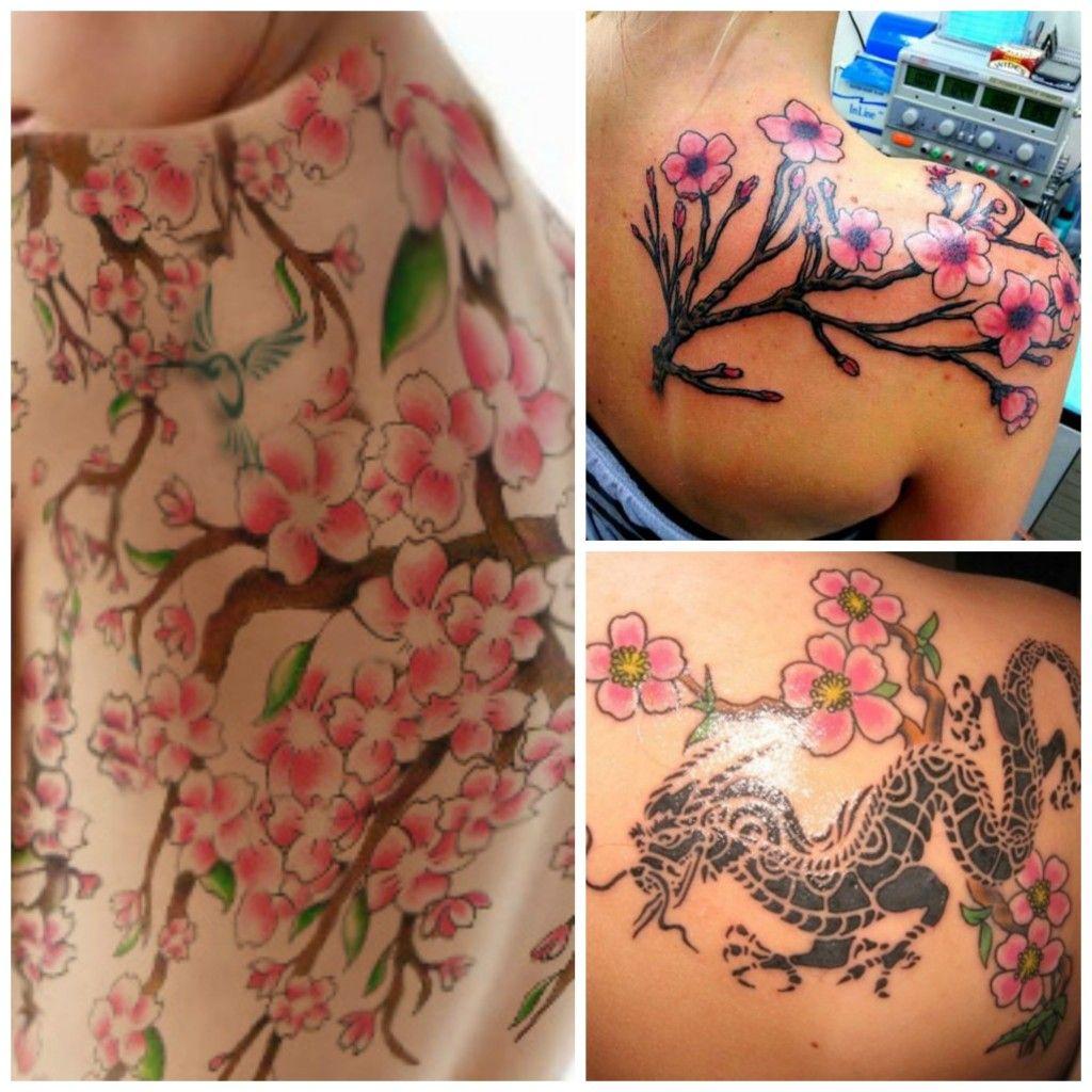 Tatouage Fleurs De Cerisier Dos Tattoos Pinterest Tattoos