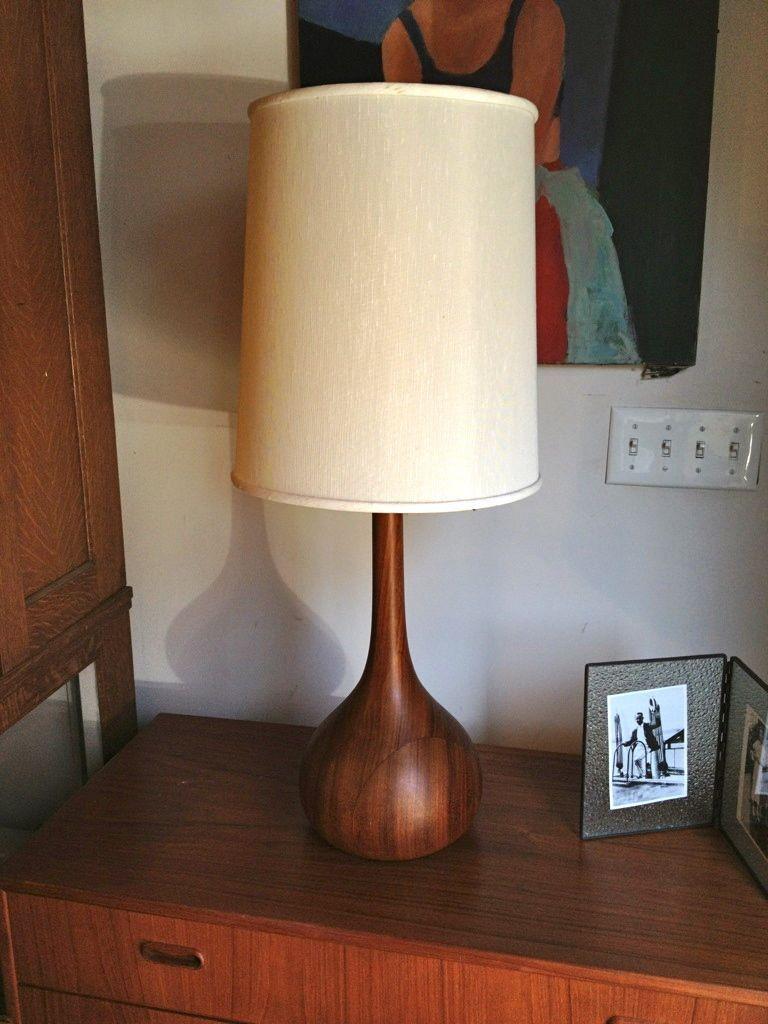 Danish Mid Century Lamp. | t objetos y pequeños muebles de madera ...