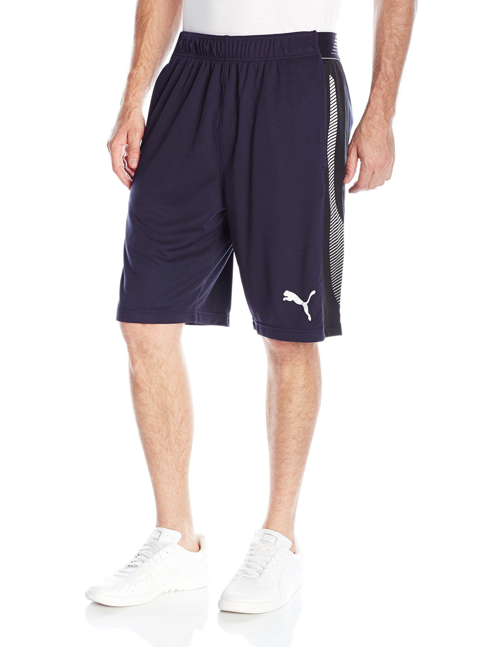 PUMA Men's Tilted Formstripe Short, New Navy/Black/White, Medium. Branded