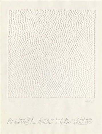 1988 INTERFERENZEN by Günther Uecker