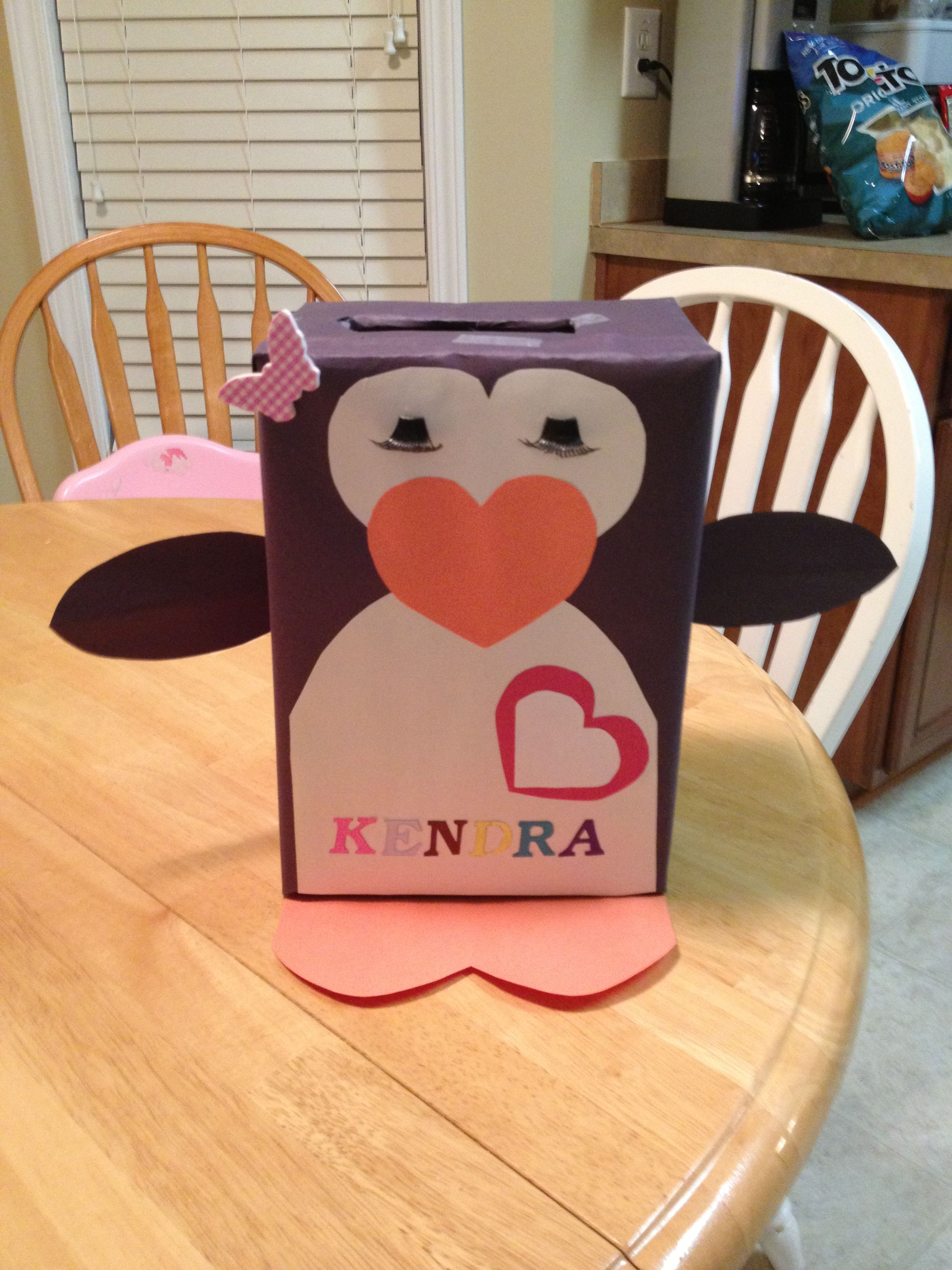 My first project inspired by a Pinterest pin  its a penguin