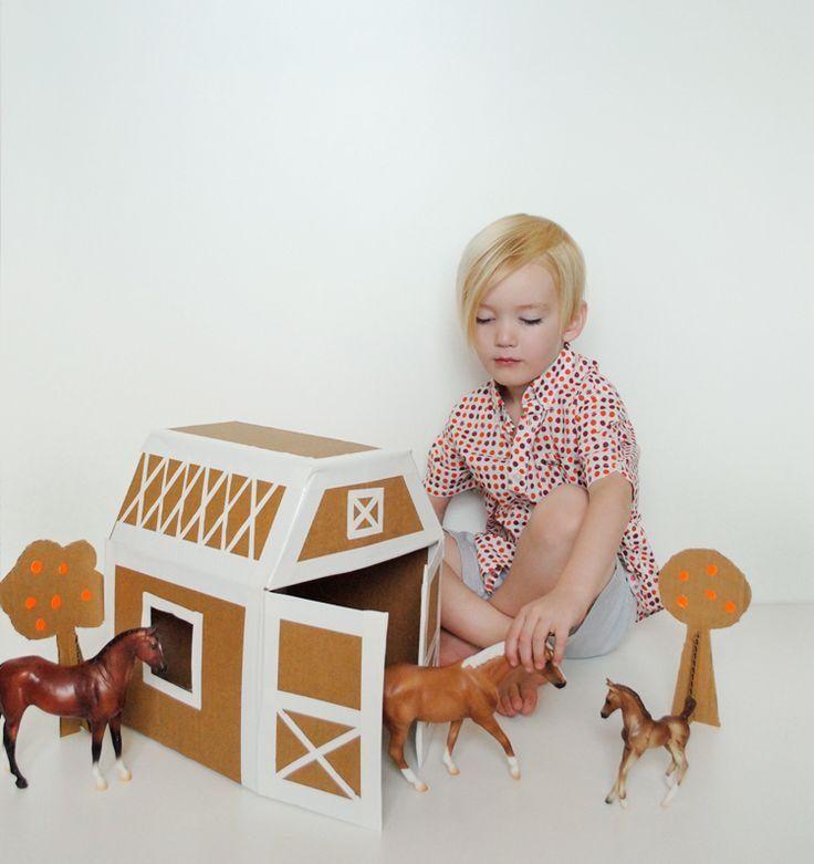 Делаем игрушки из картонных коробок