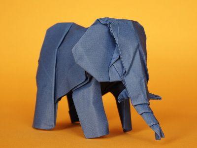 origami anleitungen z b elefant kreativ. Black Bedroom Furniture Sets. Home Design Ideas