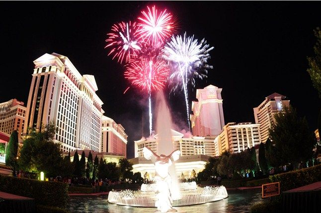 Independence Day fireworks in Las Vegas