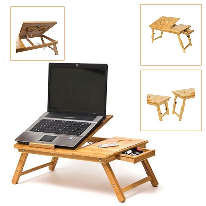 This Wooden Laptop Table Will Protect Both The Laptop From