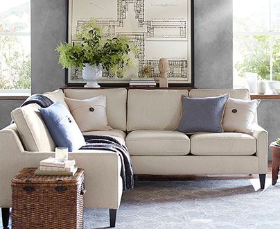 Beverly Traditional Design Sectional Sofa Pottery Barn