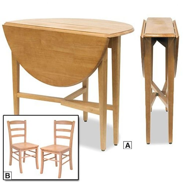 Modern Kitchen Table With Fold Down Sides Round Folding Table