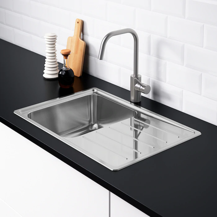 Vattudalen Beep Sully Mosog 1med Szarito Rozsdamentes Ikea Inset Sink Stainless Steel Kitchen Sink Sink