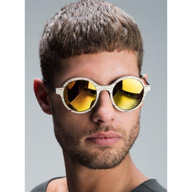 Holz-Sonnenbrille Tropenforscher Weissbirke Wooden Sunnglasses from Einstoffen, Switzerland #woodensunglasses #wooden #sunglasses # ecodesign #style