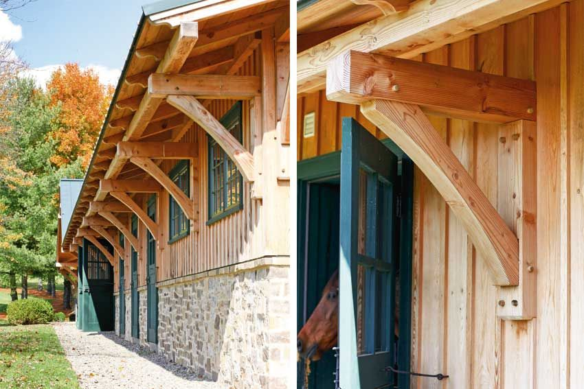 Best Large Roof Overhang Supported By Timber Frame Brackets In 400 x 300