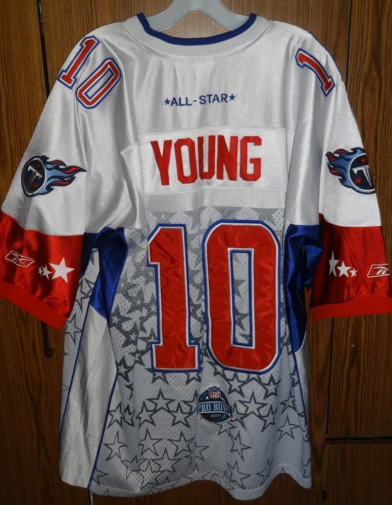 in stock b300e 4fd38 Details about Vince Young - Tennessee Titans Authentic Home ...