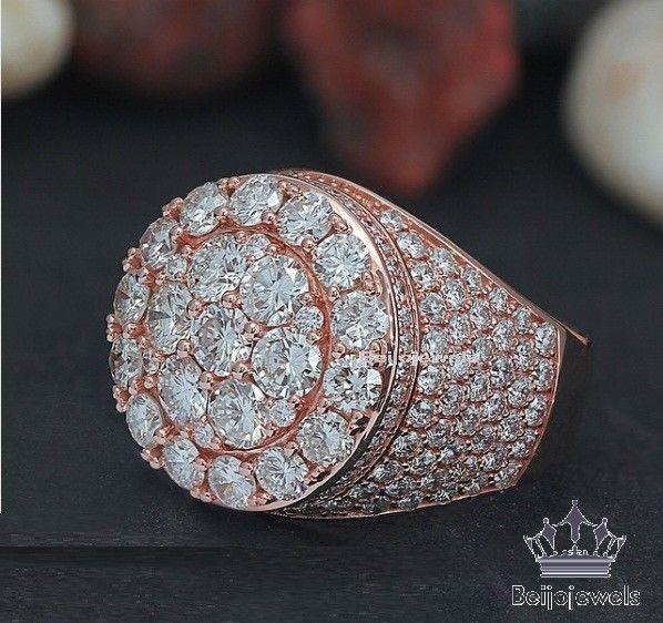 10k Rose Gold 3 00 Carat Mens Clear Diamond Engagement Wedding Pinky Ring Band Beijojewels Weddingband Engagemen Pinky Ring Mens Pinky Ring Men Diamond Ring