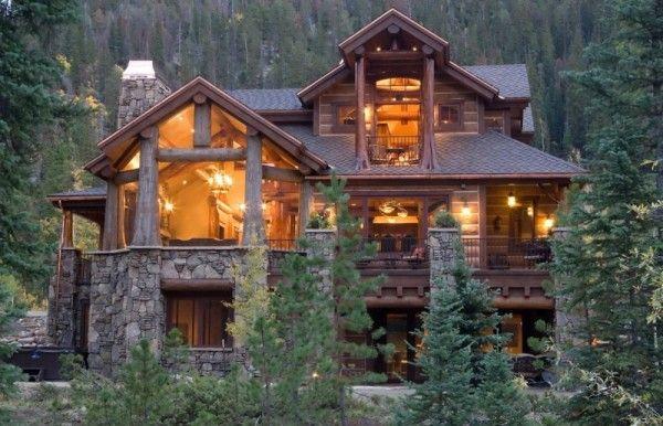 Case in stile americano log cabin lake house for Case in stile ranch in stile log cabin