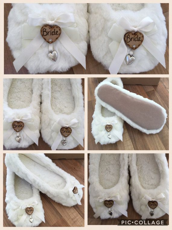 Bride or Bridesmaid slippers | Kelley\'s Wedding Ideas | Pinterest ...