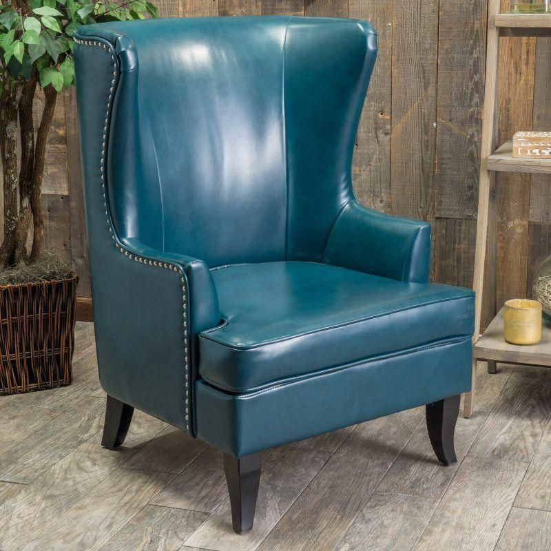 Canterburry Wingback Chair Leather wing chair, Bonded