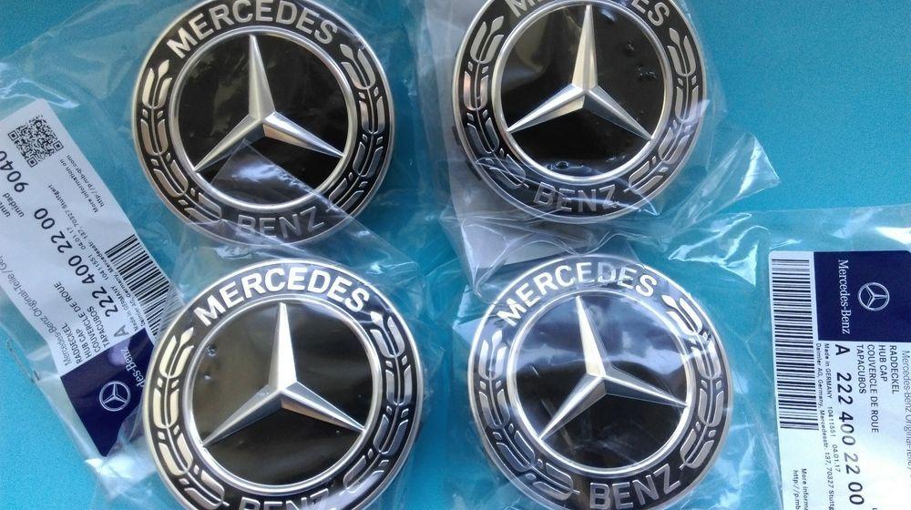 Set of 4 Genuine Mercedes Benz Alloy Wheel Centre Cap BLACK A22240022009040 #MercedesBenz|hubcaps|Mercedes wheels