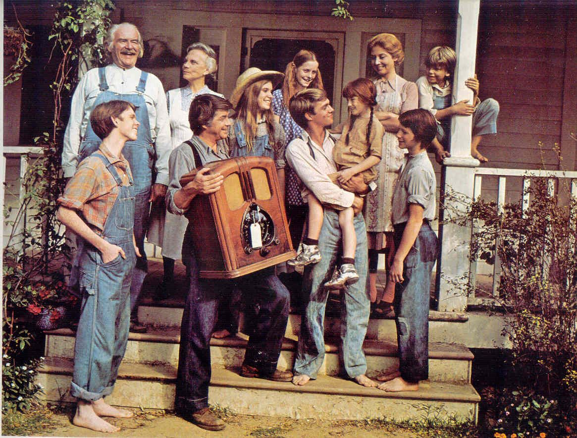 Ah The Waltons. They had the cleanest feet for walking around barefoot. Still it was the family I always wanted to be a part of....