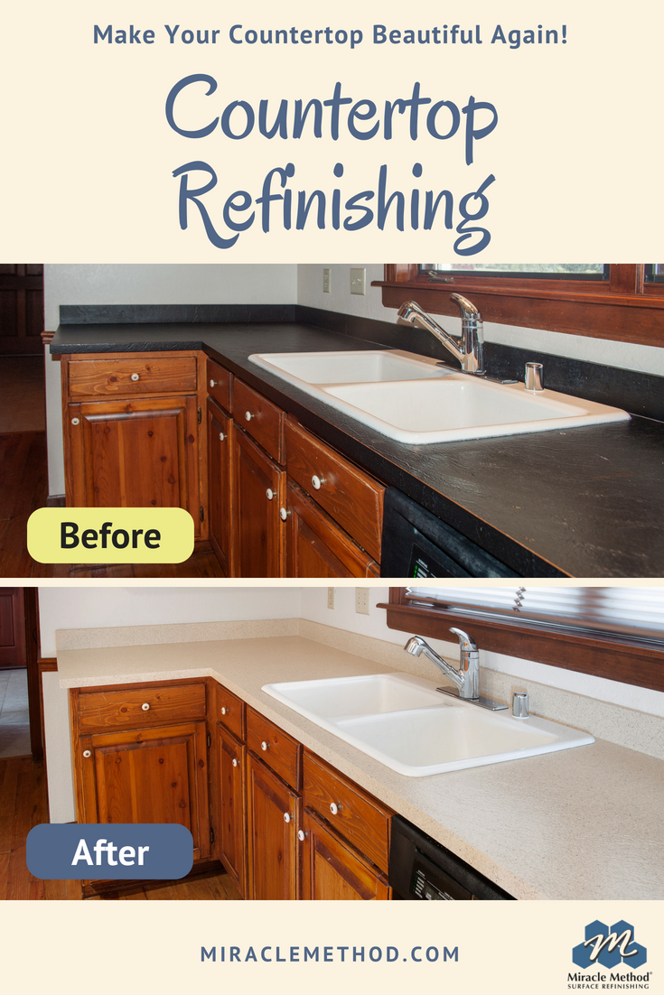 refinishing kitchen countertops modern island lighting don t replace your ugly old countertop refinish with miracle method surface homeremodel kitchtable home house