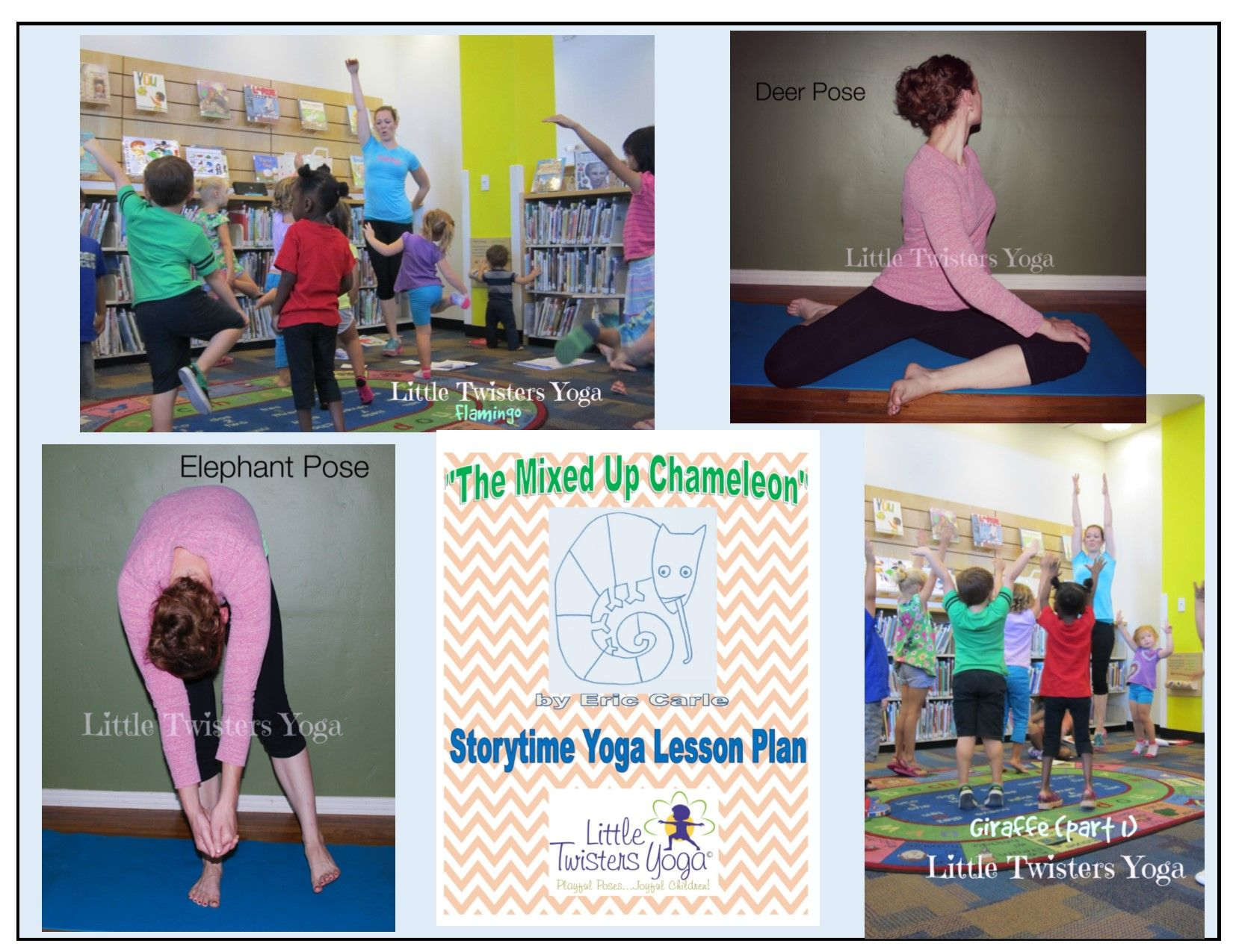 Download A Full Length Yoga Lesson Plan For Eric Carle S The Mixed Up Chameleon Full Of Pictures And Step By S Yoga Lesson Plans Lesson Plans Childrens Yoga