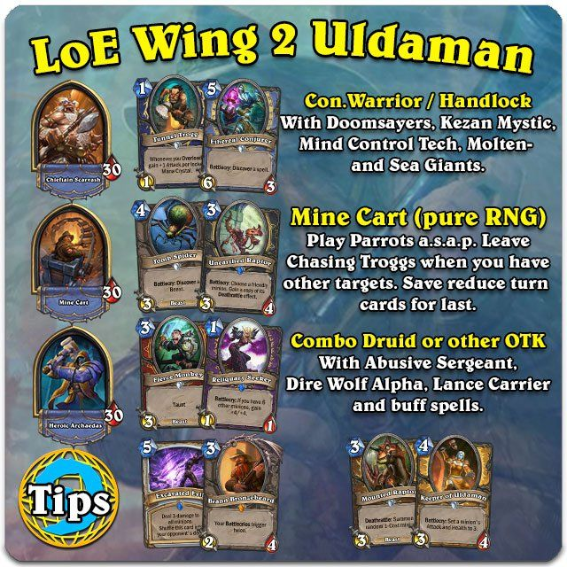 hearthstone League of Explorers Wing 4 Hall of Explorers   Tips ...