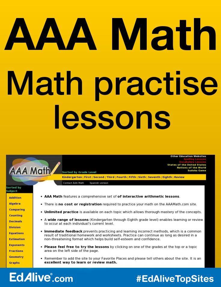 Aaa Math Math Practices Math Arithmetic