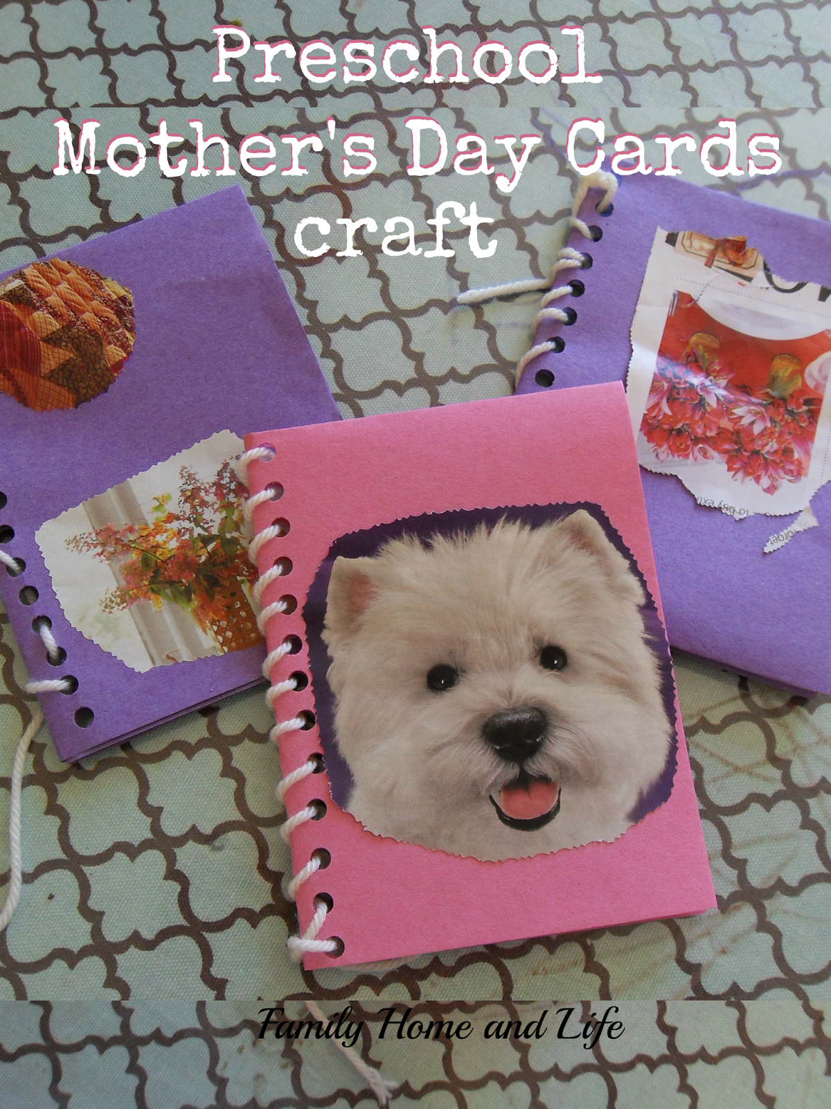Family Home and Life: Preschool Mother's Day Card Craft