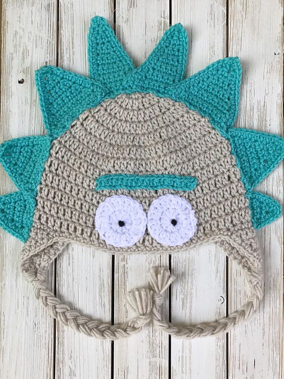 793a1ec48b40cf Rick and Morty Hat - Adult Hat - Winter Hat | crochet | Rick, morty ...