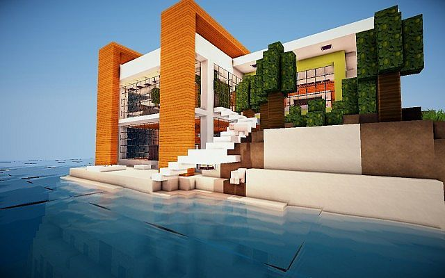 Modern Island House Minecraft Project Minecraft Projects Minecraft Minecraft Houses Survival