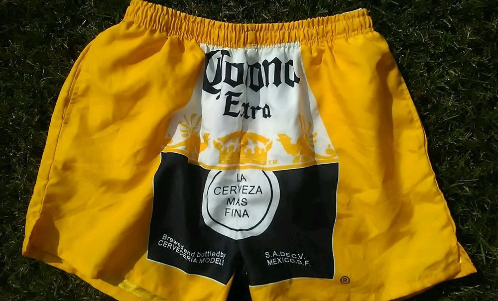 d9e334b708 Corona Mens Board Shorts Swim Trunks Yellow Polyester Size L #Corona #Trunks