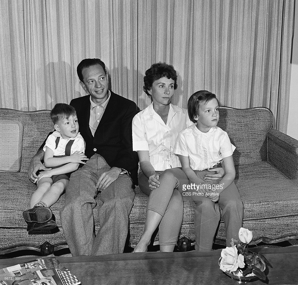 American Television Actor Don Knotts Sits On A Couch With His