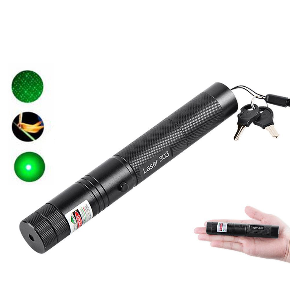 Powerful Green Laser Pointer 532nm 5mW Green, Military green