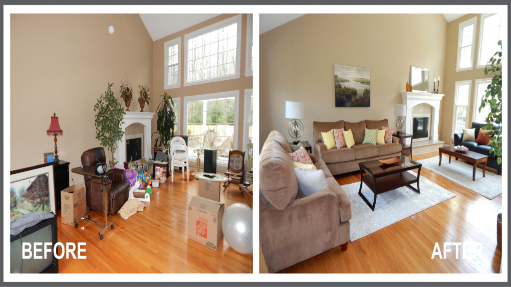 for Home staging before and after