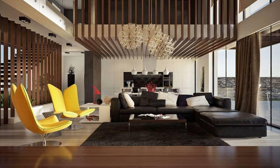 Double Storey Living Room Decor Modern Modern Living Room