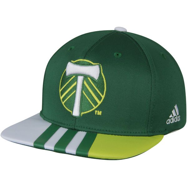 wholesale dealer fff22 f2607 Men s Portland Timbers adidas Green Authentic Team Adjustable Snapback Hat,  Your Price   25.99