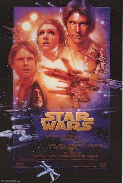 Star Wars Episode Iv A New Hope Poster 22x34 Star Wars Episode 4 Star Wars Movies Posters Star Wars Episode Iv