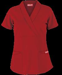 01b2e600e48 Butter-Soft Scrubs by UA™ Solid Shawl Collar Mock Wrap Top Style # UAS686C  #uniformadvantage #scrubs #nurses #red
