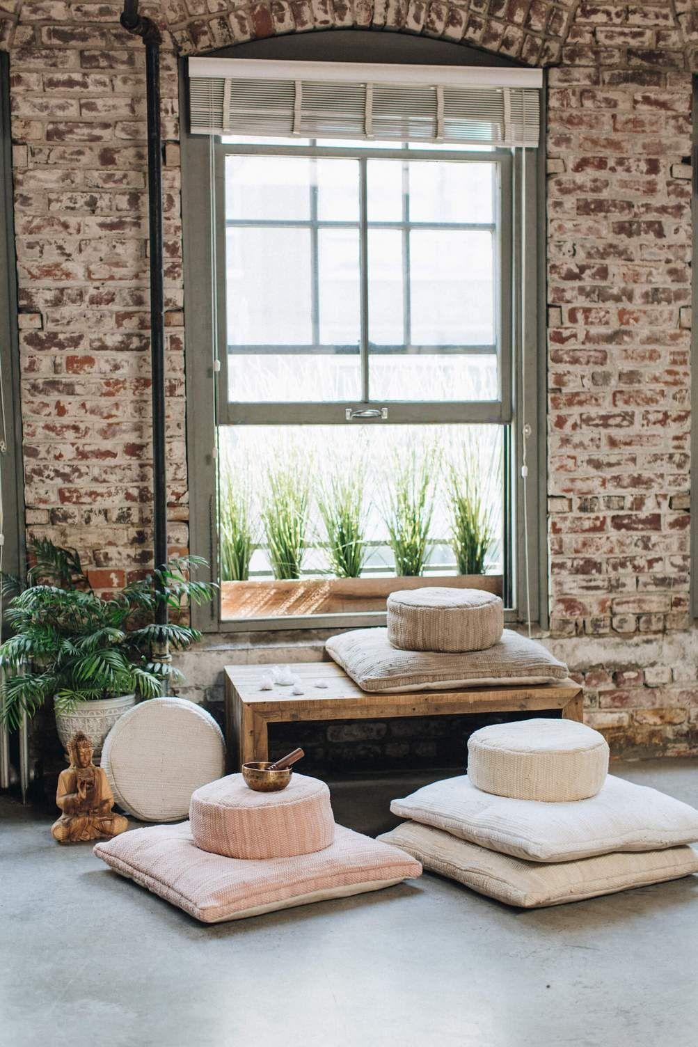 Décoration Salle De Méditation taupe chindi meditation cushion (sit set) en 2020